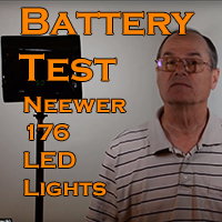 Battery Test Neewer 176 LED