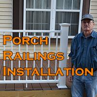 Porch Railing Installation